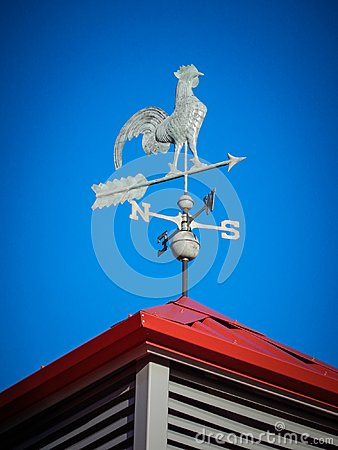 Free Weather Vane On Red Roof Royalty Free Stock Image - 99633656