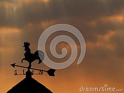 Stock Photo: Weather Vane silhouette