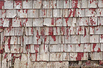 Weathered Roof Shingles
