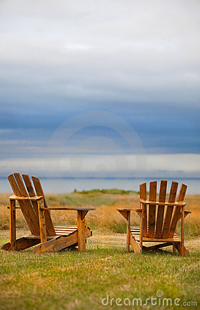 Weathered Adirondack Chairs