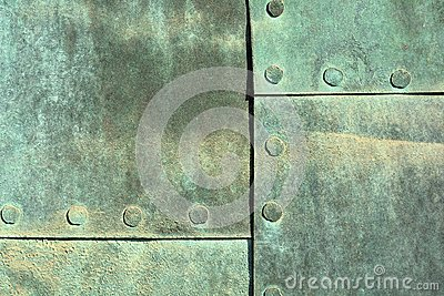 Weathered Copper Sheet Stock Photo - Image: 52055442