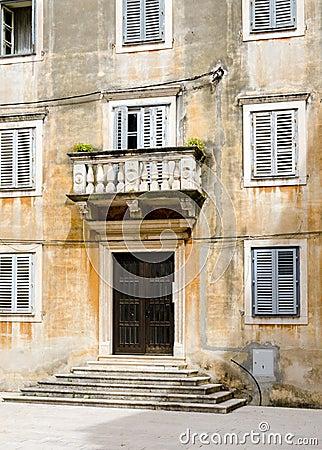 Weathered Facade Stairs Croatia