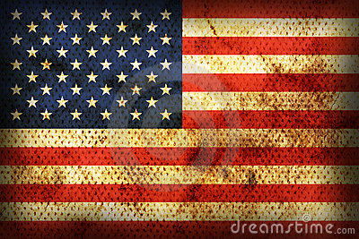 Weathered flag of  USA