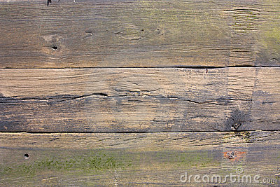 Weathered old planks of wood
