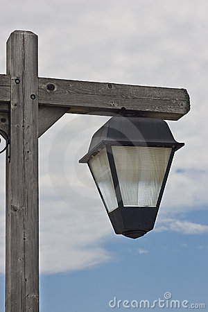 Weathered outdoor light fixture