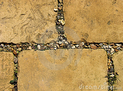 Weathered paving stones