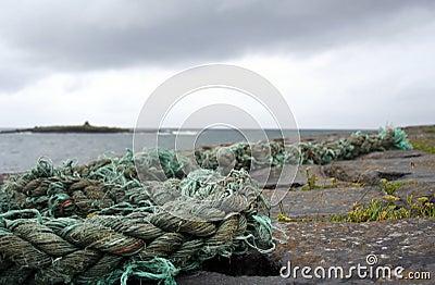 Weathered rope, Doolin, Ireland
