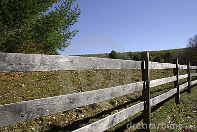 Weathered Split Rail Fence