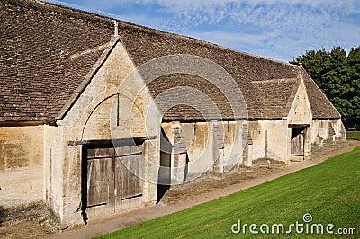 Weathered Stone Barn