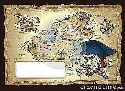 Skull Island Treasure Map