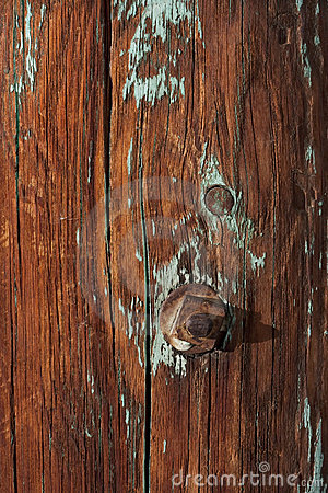 Weathered wood of old barn post