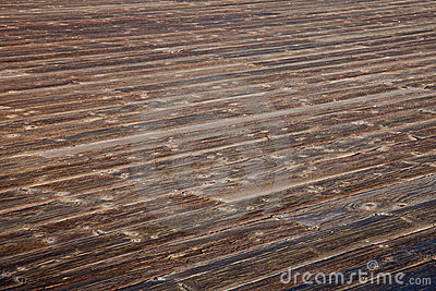 Weathered wooden deck