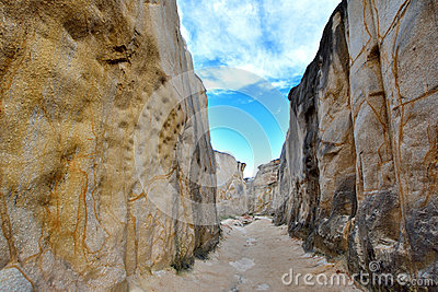 Weathering granite canyon, Fujian, China