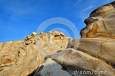 Weathering granite in Fujian, South of China