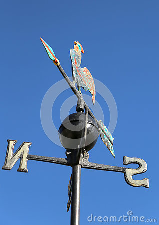 Free Weathervane With Rooster Above An Arrow And The Four Cardinal P Royalty Free Stock Photography - 73669047