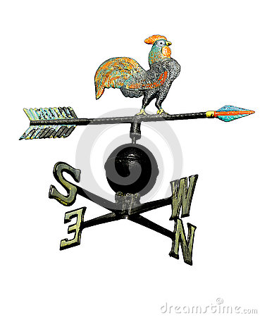 Free Weathervane With Rooster Above An Arrow And The Four Cardinal P Stock Photos - 73894513