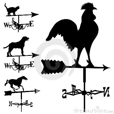 Free Weathervanes In Vector Silhouette Royalty Free Stock Photos - 8820878