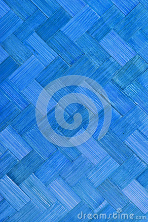 Weave bamboo texture blue color