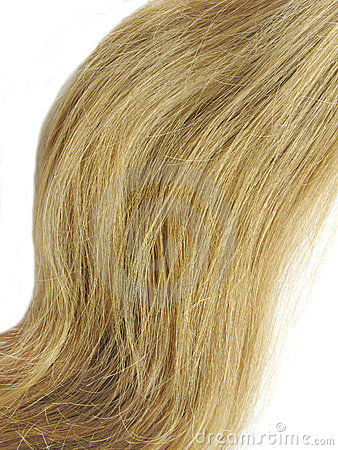 Weave of blond hair
