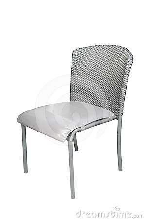 Weave chair isolated on white