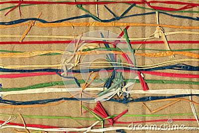Weave de papel colorido