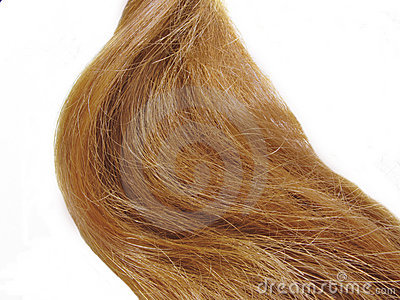 Weave of gingery hair