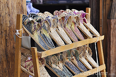 Weave Slippers Set Shelves Shop