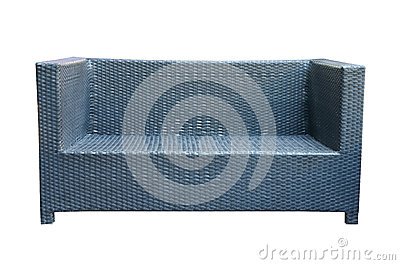 Weave sofa isolated on white