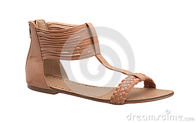 Weaved sandal shoe for woman