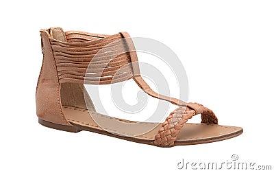 Weaved sandal shoe for woman