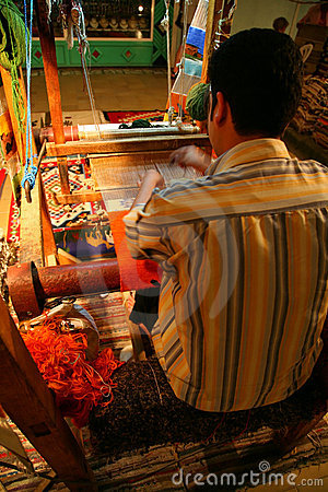 The weaver at work