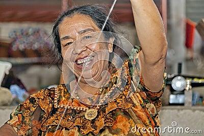 Weaving in Guatemala Editorial Photo