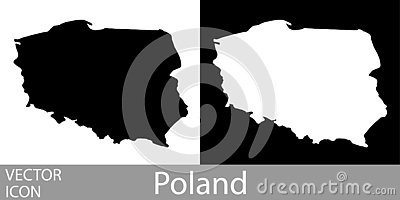 Poland detailed map Vector Illustration