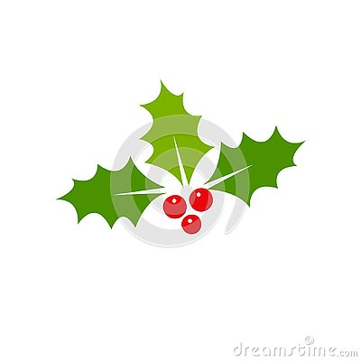 Holly berry Christmas icon. Element for design. Vector illustration - Vector Cartoon Illustration