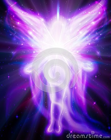 Angel of light and love doing a miracle Stock Photo
