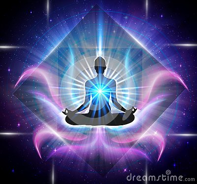 Spiritual energy power Vector Illustration
