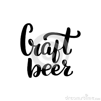 Lettering craft beer Vector Illustration