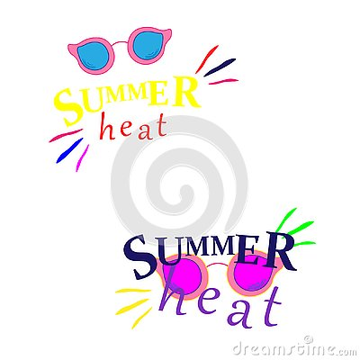 Summer Shades with Hello Summer Happy Colorful Concept in Cool Yellow Background for Summer Season. Vector Stock Photo