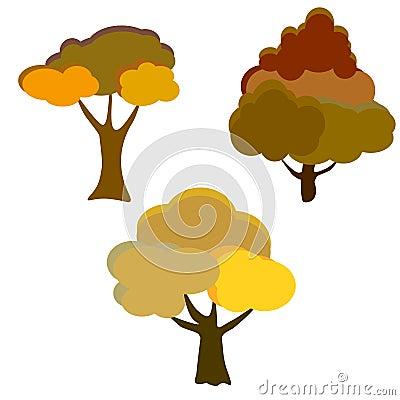 Web. Autumn tree background Stock Photo