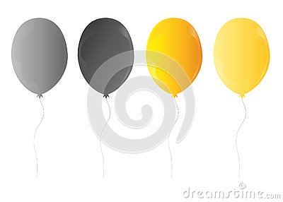 Web3d Realistic Colorful Bunch of Birthday Balloons Flying for Party and Celebrations With Space for Message Isolated Stock Photo