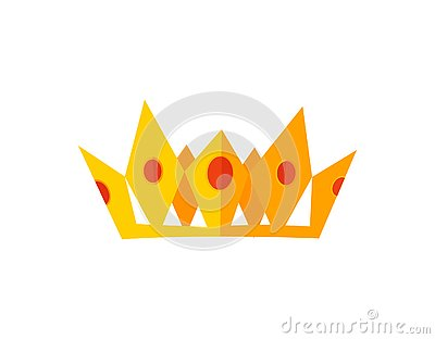 Vector gold crowns. Vector Illustration