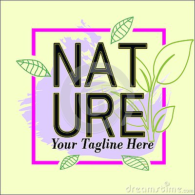 Nature frame logo template for sale Vector Illustration