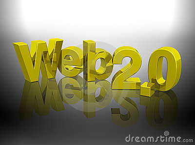 Web 2.0 3D gold word rendering