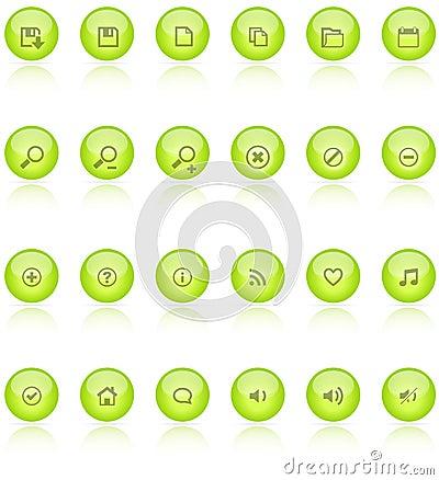 Free Web 2.0 Aqua Icons Royalty Free Stock Images - 15965309