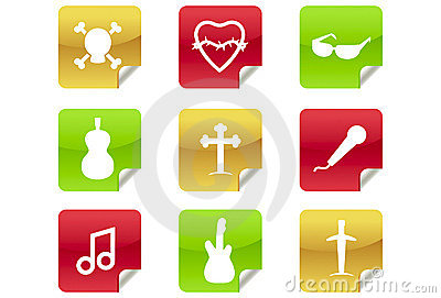Web 2.0 and Blog Icons #6 - Rock / Heavy Metal / R