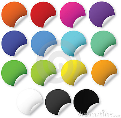 Free Web 2.0 Bright Stickers Royalty Free Stock Photography - 5971297