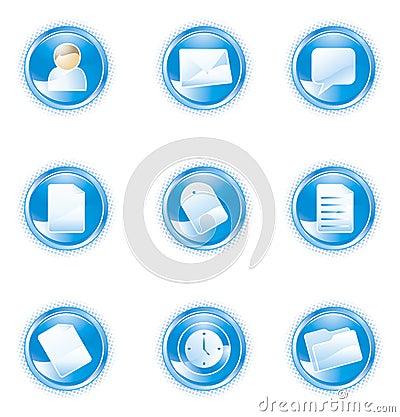 Web 2.0 icons, blue set
