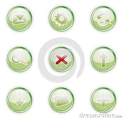 Free Web 2.0 Icons, Set Royalty Free Stock Photos - 2913108