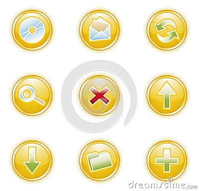 Free Web 2.0 Icons, Set Royalty Free Stock Photography - 2914647