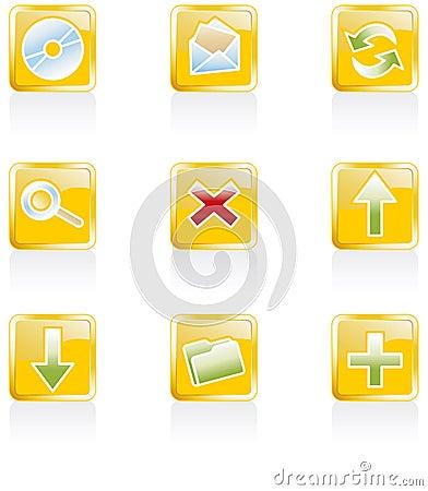 Web 2.0 icons, set